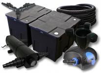 SunSun FilterSet 60000l Teich 24W Klärer, 80W Pumpe Schlauch Skimmer