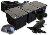 SunSun FilterSet 90000l Teich 24W Klärer, 80W Pumpe Schlauch Skimmer