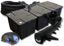 SunSun FilterSet 90000l Teich 72W Klärer, 80W Pumpe Schlauch Skimmer