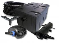SunSun FilterSet 60000l Teich mit 24W Teichklärer, 70W Pumpe Schlauch