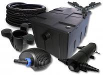 SunSun FilterSet 60000l Teich 24W Klärer, 70W Pumpe Schlauch Skimmer