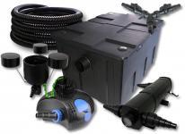 SunSun FilterSet 60000l mit 24W UVC, 80W ECO Pumpe 25m Schlauch Skimmer