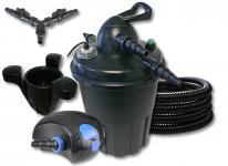 Jebao DruckteichfilterSet 15000l 24 UVC, 80W Pumpe Schlauch Skimmer 40