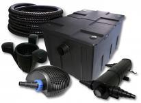 SunSun FilterSet 60000l Teich 24W Klärer, 40W Pumpe Schlauch Skimmer