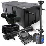 3-Kammer Set 90000l 36W UV Klärer NEO10000 80W Pumpe Schlauch Springbr