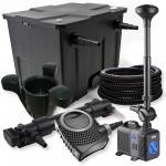 1-Kammer Set 12000l 36W UV Klärer NEO10000 80W Pumpe Schlauch Springbr