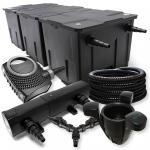 SunSun FilterSet 90000l Teich 18W Klärer, 80W Pumpe Schlauch Skimmer