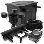 Filter Set 12000l Teich 36W Teichklärer NEO8000 70W 25m Schlauch CSP25