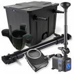 1-Kammer Filter Set 12000l 72W UV Klärer NEO10000 80W Pumpe Springbrunnen Skimmer