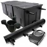Set: Teichfilter 90000l 72W UV Teichklärer 80W Pumpe Skimmer