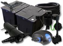 SunSun Filter 60000l 36W UVC 100W Pumpe Schlauch Skimmer Springbrunnen