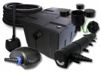 SunSun Filter 60000l 72W UVC, 40W Pumpe Schlauch Skimmer Springbrunnen