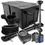 2-Kammer Set 60000l 72W UV Klärer NEO10000 80W Pumpe Schlauch Springbr