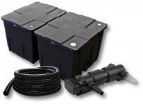 2-Kammer FilterSet für 60000l mit 24W UVC 6er-Teichklärer 5m Schlauch