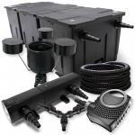 SunSun Filter Set 90000l 24W UVC NEO10000 Pumpe 25m Schlauch Skimmer