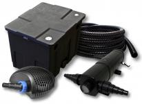 Filter Set 12000l Teich, 24W Teichklärer 20W ECO Pumpe 25m Schlauch