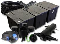 SunSun FilterSet 90000l Teich 24W Klärer, 100W Pumpe Schlauch Skimmer