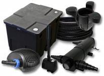 FilterSet 12000l, 24W Teichklärer, 40W Pumpe Schlauch SK30 Springbrunnen