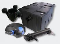 1-Kammer Filter Set 60000l 36W UVC 3er-Klärer NEO10000 80W Pumpe Skimmer