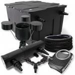SunSun Filter Set 60000l 24W UVC NEO8000 70W ECO 25m Schlauch Skimmer