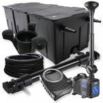 3-Kammer Set 90000l 72W UV Klärer NEO10000 80W Pumpe Schlauch Springbr