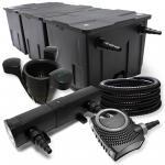 FilterSet Bio Teichfilter 90000l 24W UVC Klärer Pumpe Schlauch Skimmer