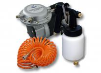 Profi-Set Lackierpistole HS-472D 1.2mm + 0.8mm Düse & Kompressor AS09