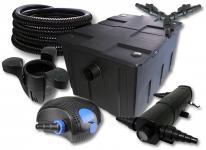 SunSun FilterSet 60000l Teich 18W Klärer, 100W Pumpe Schlauch Skimmer