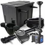 1-Kammer Set 12000l 72W UV Klärer NEO10000 80W Pumpe Schlauch Springbr