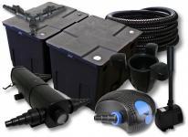 SunSun Filter 60000l 24W UVC 100W Pumpe Schlauch Skimmer Springbrunnen