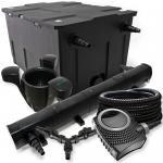 SunSun FilterSet 60000l Teich 72W Klärer, 80W Pumpe Schlauch Skimmer