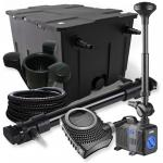 1-Kammer Set 60000l 72W UV Klärer NEO10000 80W Pumpe Schlauch Springbr