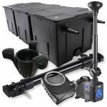 3-Kammer Filter Set 90000l 72W UV Klärer NEO10000 80W Pumpe Springbrun