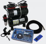 Einsteiger Airbrush Kompressor Set mit 1 Airbrushpistole AS196