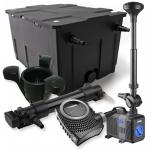 1-Kammer Filter Set 60000l 36W UV Klärer NEO10000 80W Pumpe Springbrun