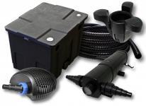 Filter Set 12000l Teich, 24W Teichklärer 20W Pumpe 25m Schlauch SK30