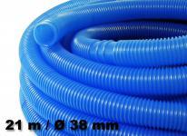 Schwimmbadschlauch blau Muffe Schwimmsaugschlauch Pool 38mm 21m