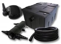 Filter Set Bio Teichfilter 60000l 24W UVC Teichklärer Schlauch Pumpe