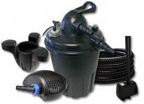 Druckteichfilter 15000l 24 UV, 40W Pumpe Schlauch Skimmer Springbrunnen