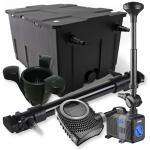 1-Kammer Filter Set 60000l 72W UV Klärer NEO10000 80W Pumpe Springbrun
