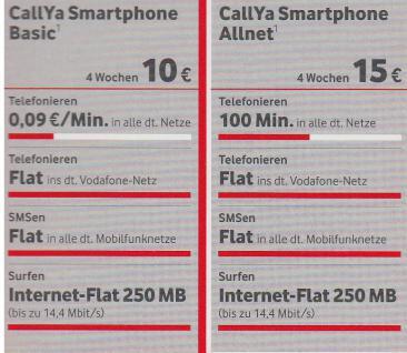 Vodafone CallYa Prepaid SIM- Karte SMART PHONE- FUN - Vorschau 2