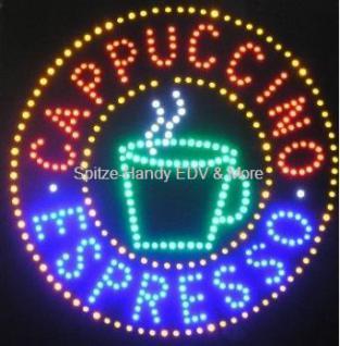 ESPRESSO LED Leucht reklame Display Werbung groß - Vorschau 2