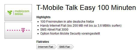 Mobil funk vertrag für Wenig telefonierer - Vorschau 1