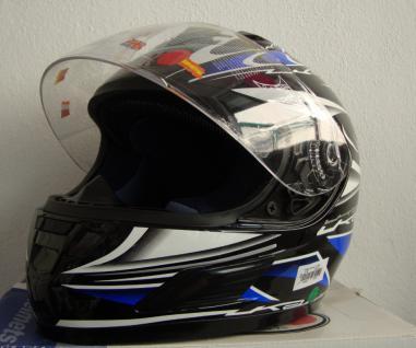Motor rad Sturz und Integral helm mit Visir - Vorschau 1