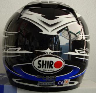 Motor rad Sturz und Integral helm mit Visir - Vorschau 2
