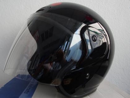 Motorrad Jet Helm Sturzhelm Gr. M mit Visir Roller