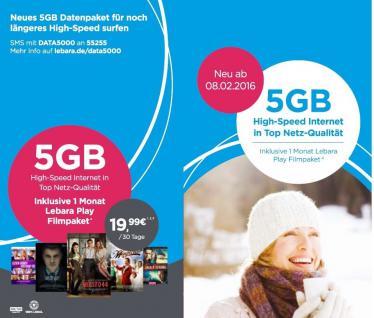 Prepaid SIM mit 5GB Internet / Monat und frei von Lebara Karte kostenlos telefonieren