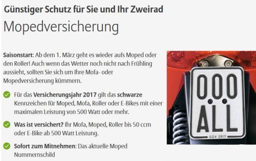 Moped Schild 2017 / 2018 für Mofa Roller SegwayQuad - Vorschau 1
