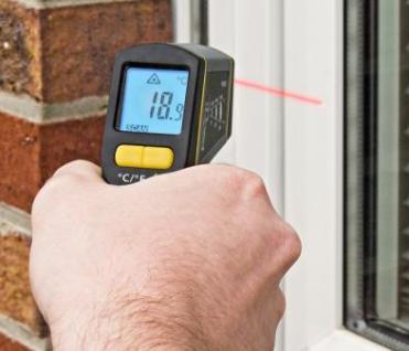 Profi Infrarot- Thermometer mit Laser justierung - Vorschau 3