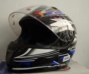 Motor rad Sturz und Integral helm mit Visir